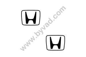 2 Stickers Logo Honda