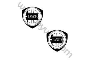 2 Stickers Lancia