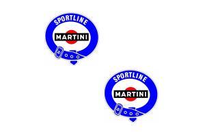 Kit 2 sticker Martini Sportline 14 cm