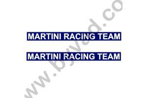 2 stickers Martini Racing Team