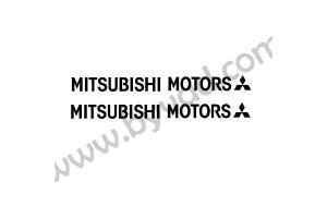 2 Stickers Mitsubishi Motors 15 cm