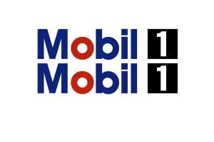 Kit deux stickers 'MOBIL 1' 100 cm