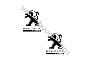 2 Stickers Peugeot Sport
