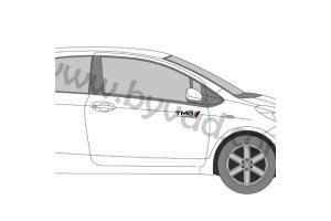 2 Stickers TMG Toyota Motorsport 25 cm