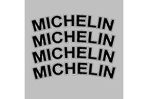 Autocollant MICHELIN ARRONDI x 4