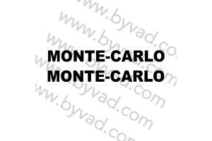 Autocollant Monte Carlo x 2