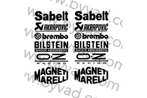 Sticker sponsors portes Fiat 500