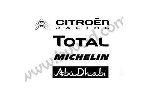 Pack stickers Sponsors Citroen Racing
