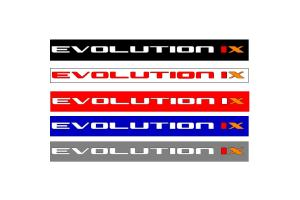 Bandeau pare soleil Mitsubishi Evolution IX