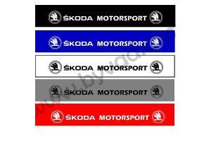 Bandeau pare soleil Skoda Motorsport