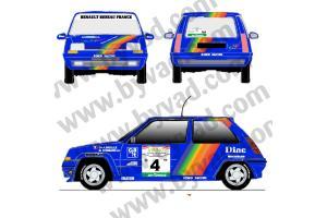 Kit déco R5 GT Rallye de côte d'ivoire 1990