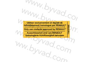 Sticker Renault Liquide de refroidissement