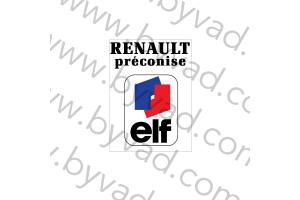 Sticker Renault Préconise Elf