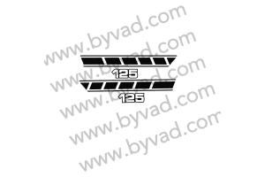 Stickers caches latéraux YAMAHA 125 RSDX 1977