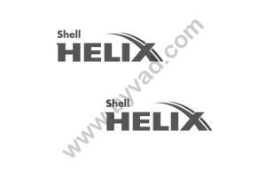 2 stickers SHELL HELIX Monochrone