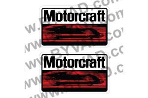 2x Autocollant Motorcraft vintage