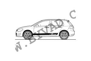 Bandes latérales VW R Line