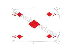 Sticker de toit As de Carreau