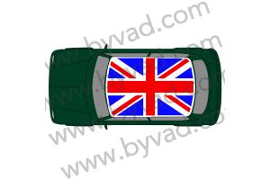 Sticker de toit union jack austin mini version origine bleu et rouge