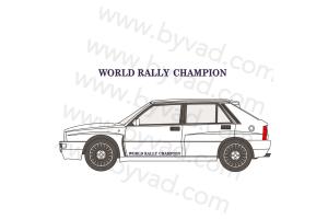 Autocollant bas de porte WORLD RALLY CHAMPION Lancia