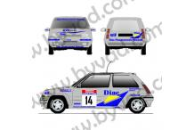 Kit déco R5 Gt Turbo Diac - Tour de Corse 1990